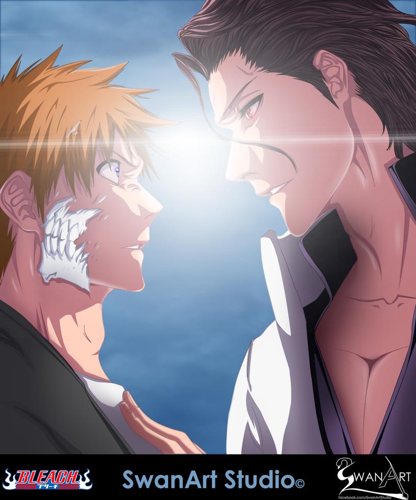 Ichigo and Aizen - Bleach by SwanArtStudio