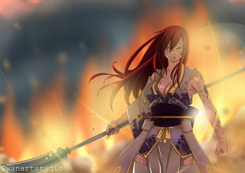 Erza-Robe of Yuen-Manga Fairy Tail Chapter 154. by SwanArtStudio