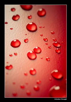 Water Droplets Red