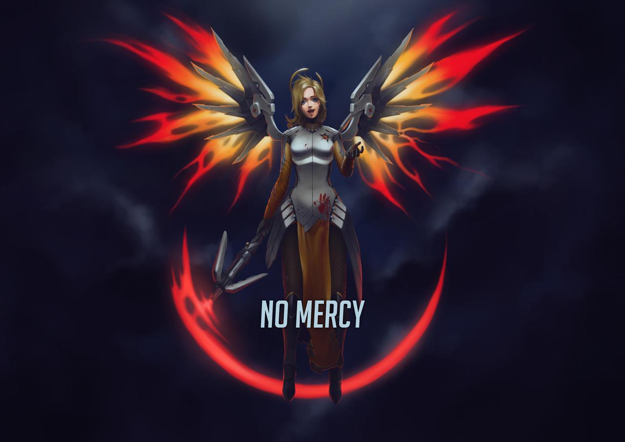 no mercy  overwatch wallpaper fan art  by artmancer db20vyp