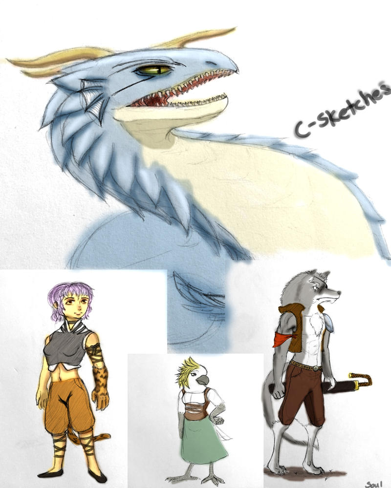 C-Sketches by ArousingSoul