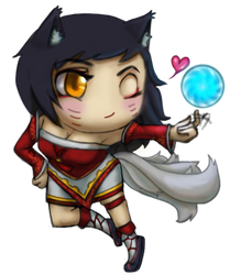 Ahri The Nine-tailed Chibi by ArousingSoul