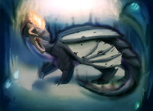 Commission: Evil Subterranean Dragon