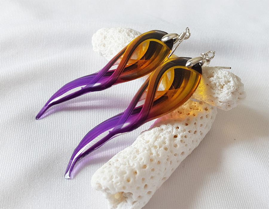 Transparent Swirls Earrings by Somnambula81
