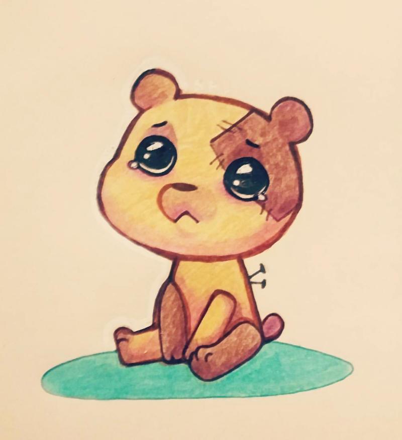 sad teddy is sad by msohessai on deviantart