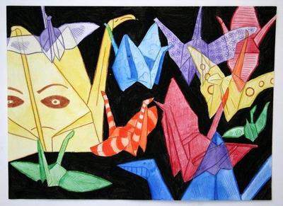 Dancing Cranes by Antivulano