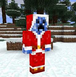 Blue Creeper Santa by MetalHarpey