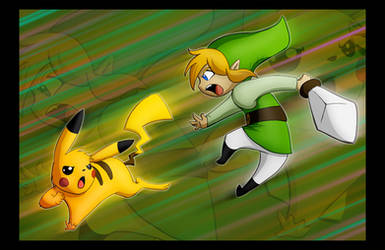 Pikachu VS Toon Link