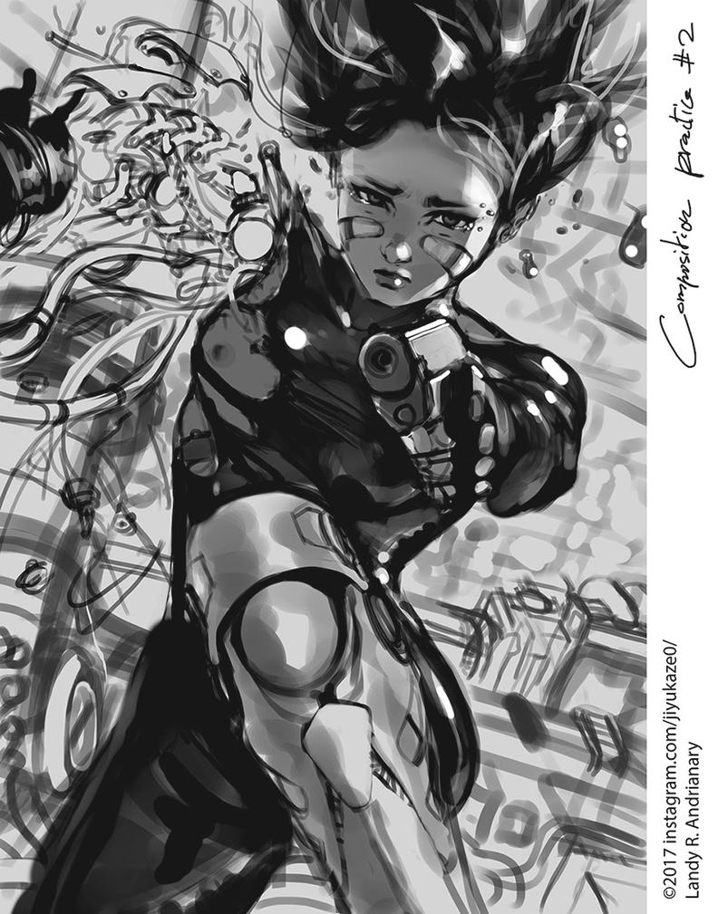Gunnm battle angel alita practice number 5 by Jiyu-Kaze on