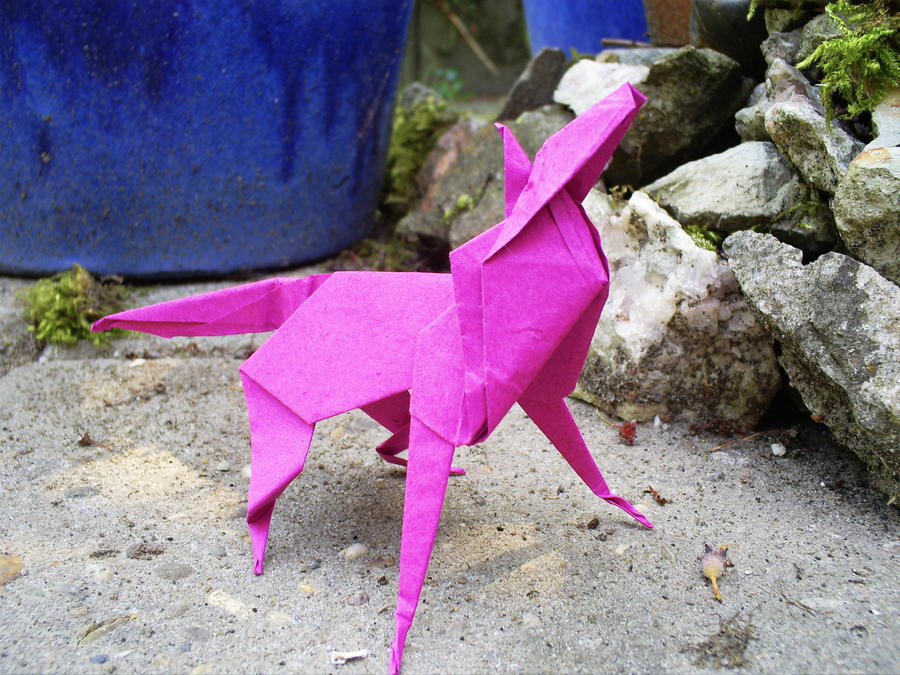 Origami Wolf By Marie Angela