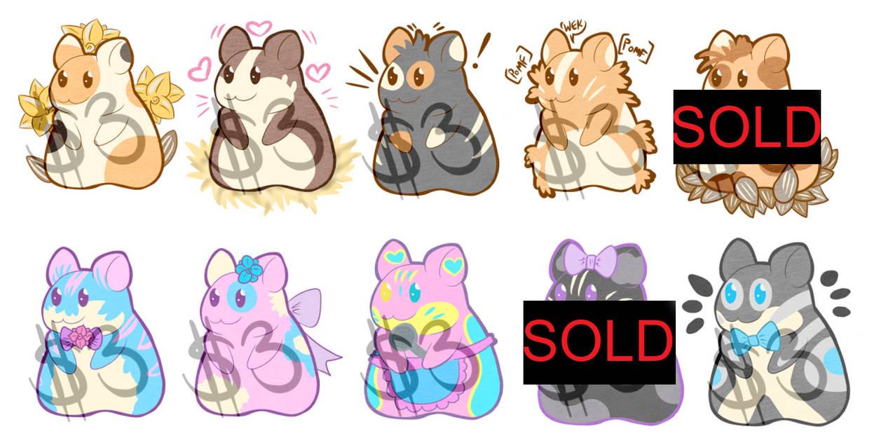 $3 Adoptable Hamsters (OPEN)