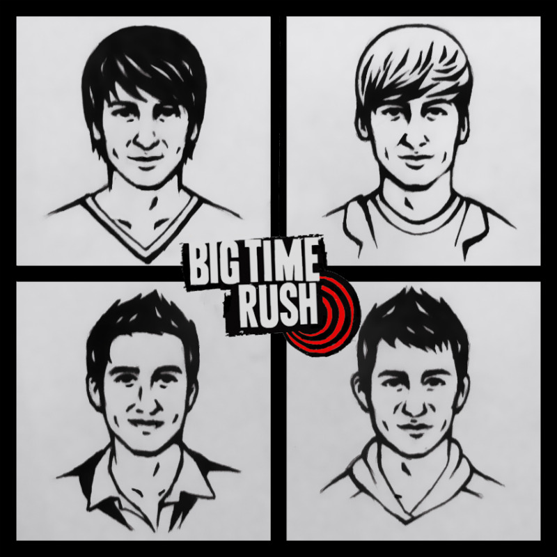 big time rush coloring pages big time rush by 0nibaba on deviantart