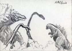 VS Biollante by monsterartist