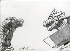 Against MechaGodzilla by monsterartist