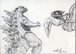 VS Megaguirus by monsterartist