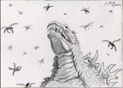 VS the Meganula Swarm by monsterartist