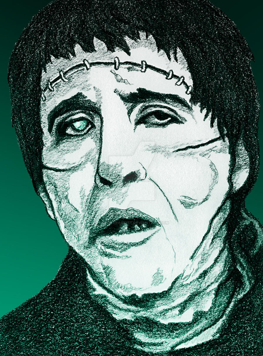 Christopher Lee in Curse of Frankenstein by monsterartist