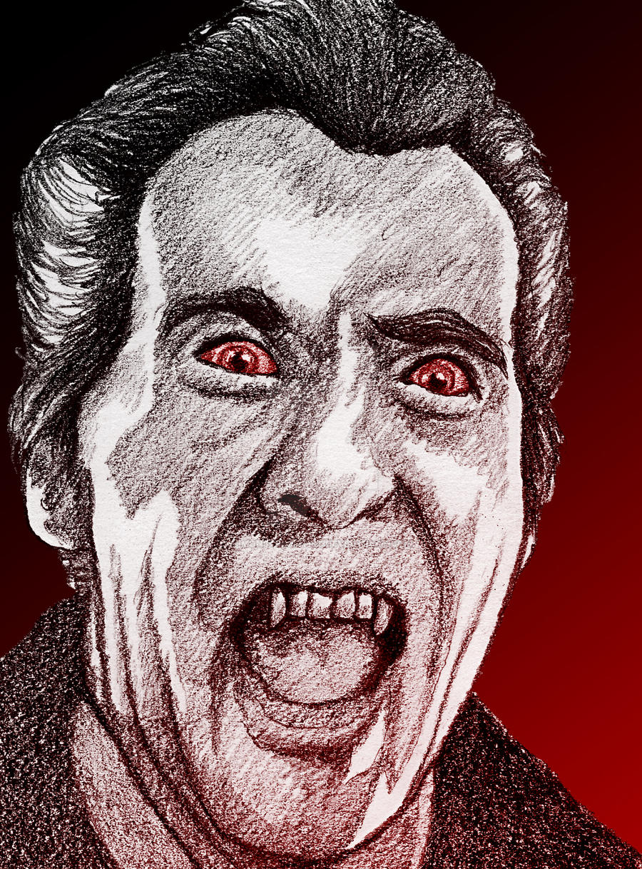 Christopher Lee in Horror of Dracula by monsterartist
