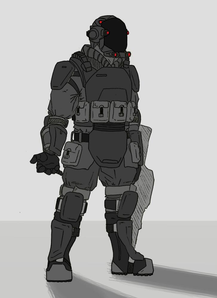 Prosapient Riot Armor by Gannadene