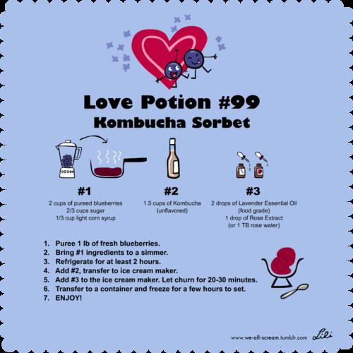 love potion 99# kombucha sorbet recipe by pharynroller360
