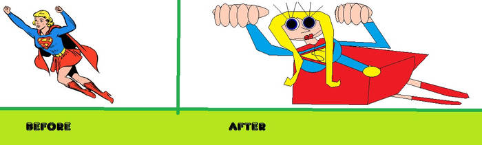 before and after supergirl draw this again by pharynroller360