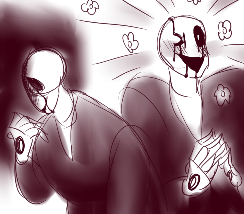 gaster sketches by DJ-Catsume