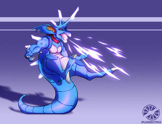 Commission: Berry the Godzilla by splendidcitrus