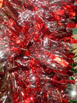 Red Christmas Tinsel Texture
