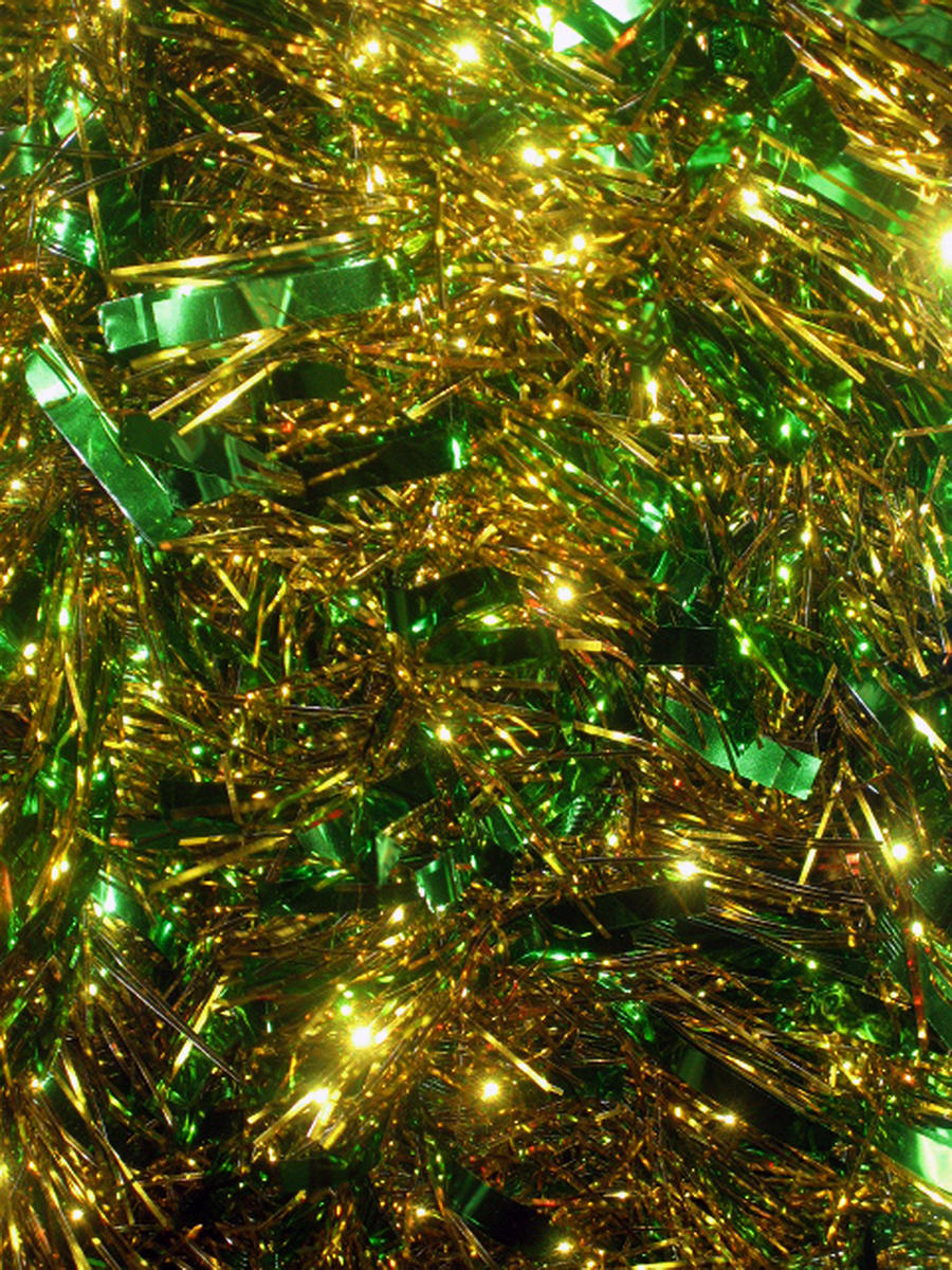 Green Christmas Tinsel Texture by SweetSoulSister