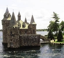 Castle with Bridge on Lake by SweetSoulSister