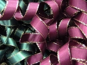 Party Ribbon Curls Background