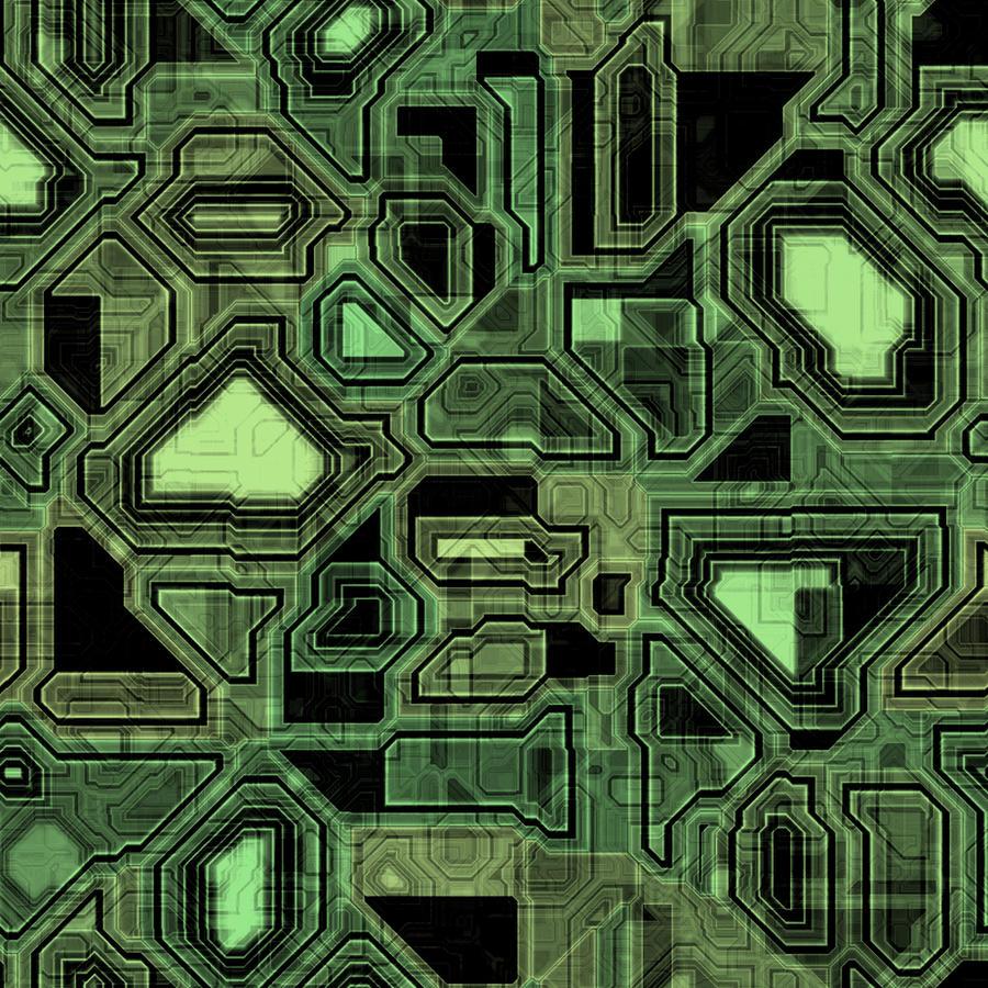 Circutry Texture - Green Black