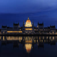 Budapest Parliament at dusk by barsknos