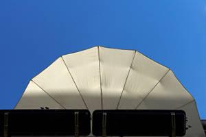 Balcony umbrella underneath