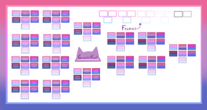 (F2U) Bisexual flags + frames (read desk)