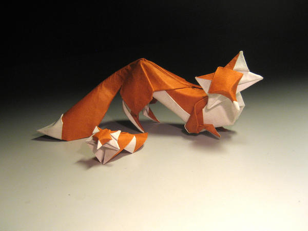 Origami Foxes by HTQuyet