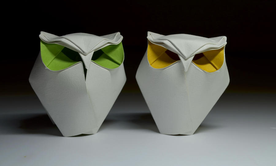Origami Chubby Owls By Htquyet On Deviantart