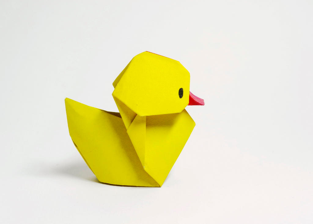 origami duckling by htquyet on deviantart
