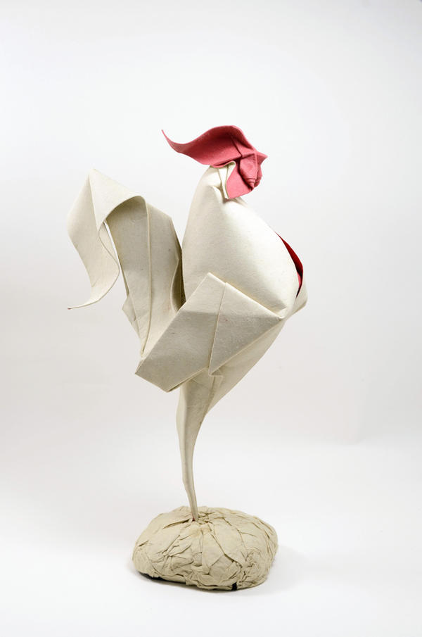Origami rooster by htquyet on deviantart