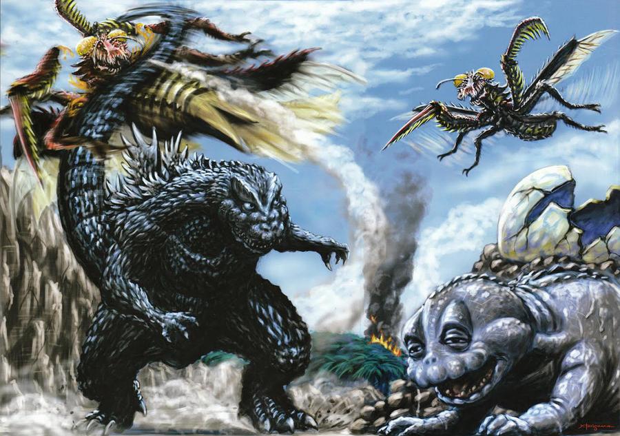 Gamera Flying Godzilla Uchusen Daika...