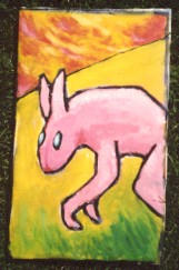 Pink rabbit by maskin