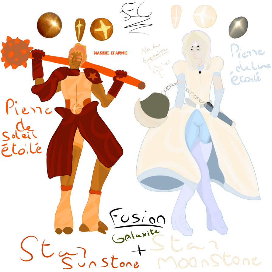 Fusion Gemsona Star Moonstone and Star SunStone ! by FaridCreator