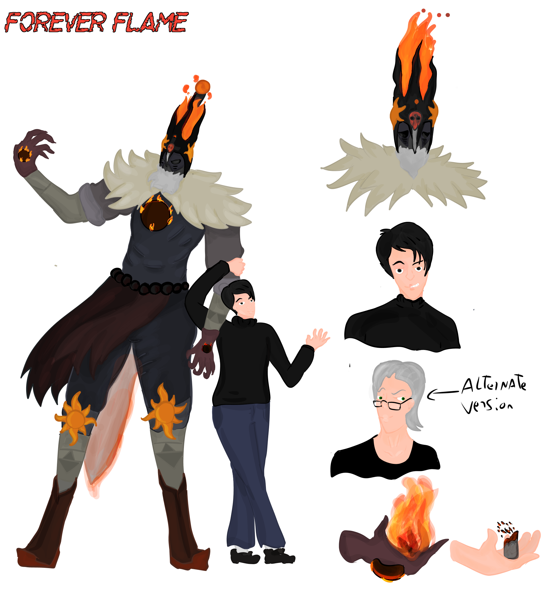 Forever Flame Oc Stand  by FaridCreator