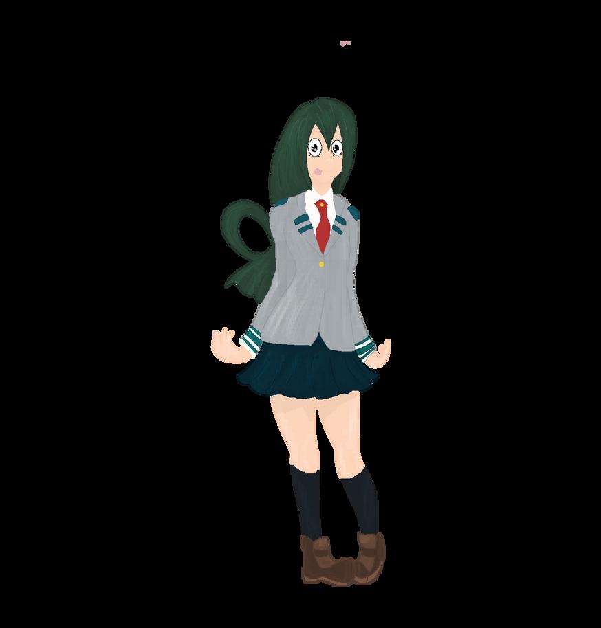 Tsuyu Asui Pixel Art by FaridCreator