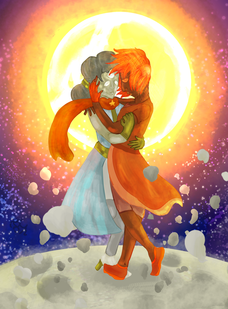 An Eclipse For Sunstone and Moonstone by FaridCreator