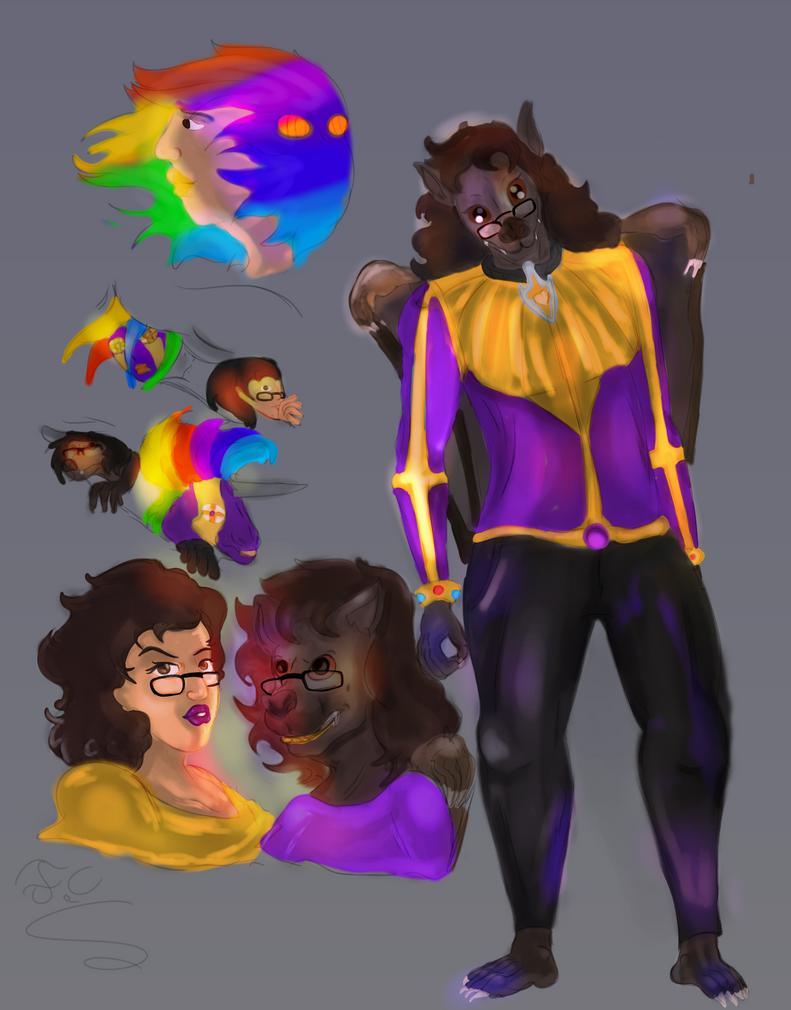 Random sketch and Anthro by FaridCreator