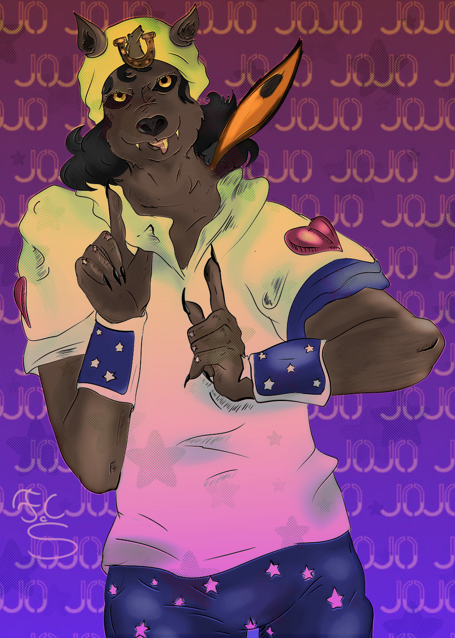 Me in furry cosplayed as Johnny Joestar by FaridCreator