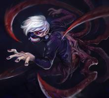 Ken Kaneki - Tokyo Ghoul by snowicewater