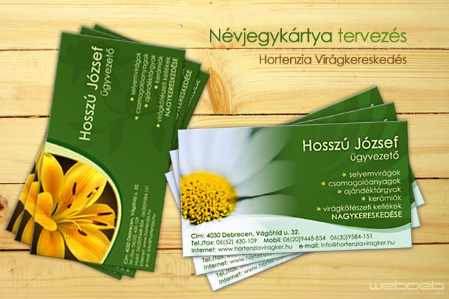 Flowershop business card by blinka