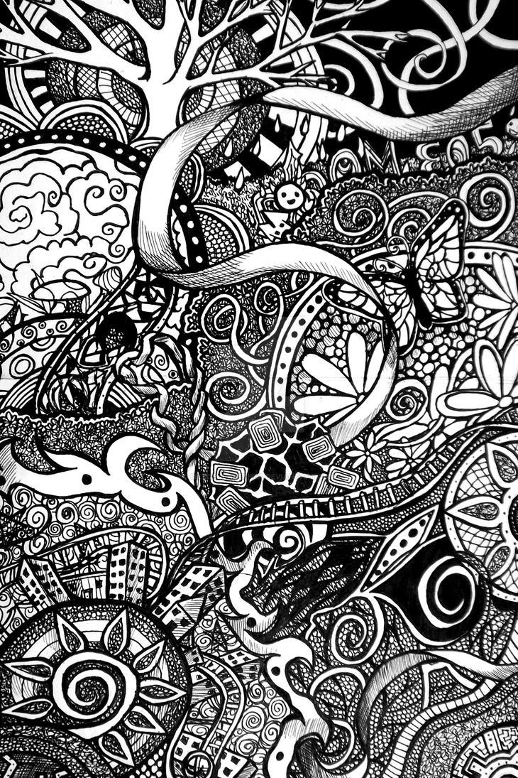 ink doodle 2 by silecenealethea on deviantart